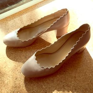 Chloe Lauren scallop heels